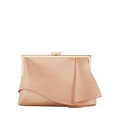 Coast - Rose gold 'Rae' ruffle clutch bag