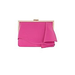 Coast - Pink 'Rae' ruffle clutch bag