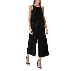 Coast - Black print 'nora' halter-neck jumpsuit