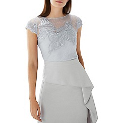 Coast - Silver lace 'Florina' embroidered top