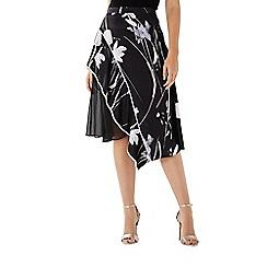 Coast - Monochrome floral print 'Vivica' knee length skirt