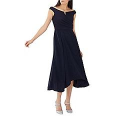 Coast - Navy 'Ali' bardot midi dress