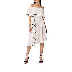 Coast - Blush pink 'Amory' tipped bardot dress