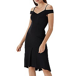 Coast - Black 'Tara' cold shoulder shift dress