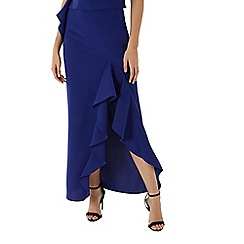 Coast - Cobalt blue 'Emily' maxi ruffle skirt