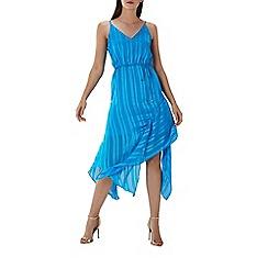 Coast - Blue striped 'Limani' asymmetric dress