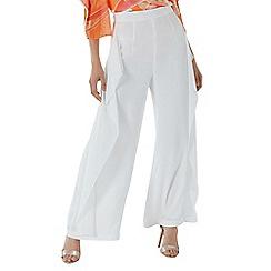 Coast - White 'Romy' wide leg drape trousers