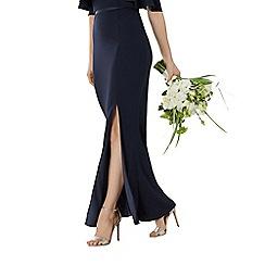 Coast - Navy blue 'Hallie' split maxi bridesmaid skirt
