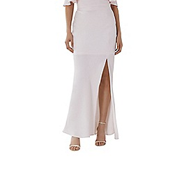 Coast - Blush pink 'Hallie' split maxi bridesmaid skirt