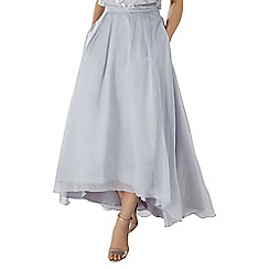 Coast - Silver organza 'Iridesa' maxi bridesmaid skirt