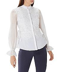 Coast - Syden lace stripe shirt