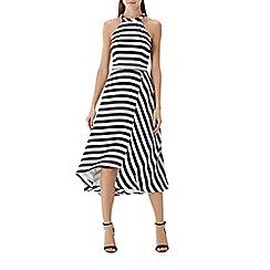 Coast - Monochrome stripe 'Dillon' fit and flare midi Dress