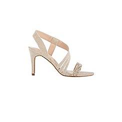 Coast - Gold 'Heidi' glitter strappy sandals