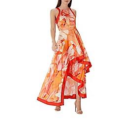 Coast - Orange floral print 'Jayda' high low maxi dress