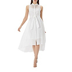 Coast - Ivory white 'Giorgia' sheer shirt dress