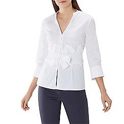 Coast - White 'Naomi' lace belted shirt
