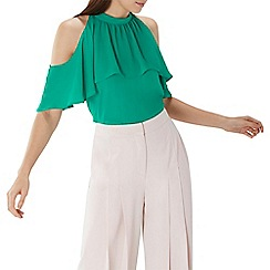 Coast - Green 'Leighton' cold shoulder top