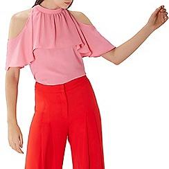 Coast - Pink 'Leighton' cold shoulder top