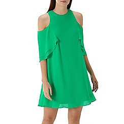 Coast - Green 'Gabby' cold shoulder dress