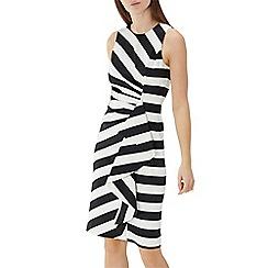 Coast - Monochrome stripe cotton 'Abigail' ruffle shift dress