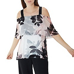 Coast - Floral print 'Drake' cold shoulder bardot top