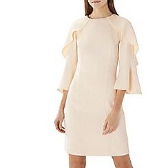 Coast - Neutral 'Tori' ruffle long sleeve shift dress
