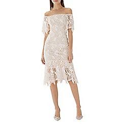 Coast - Natural lace 'Tayna' bardot shift dress