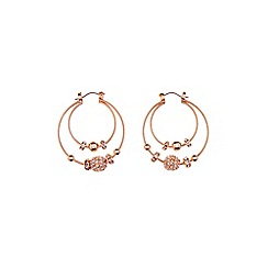 Coast - Rose Gold 'Kyra' double hoop earrings