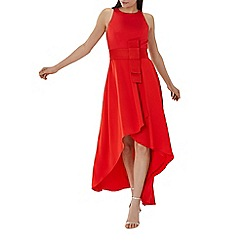 Coast - Red 'April' belted high low dress