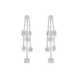 Coast - Silver 'ava' sparkle drop earings