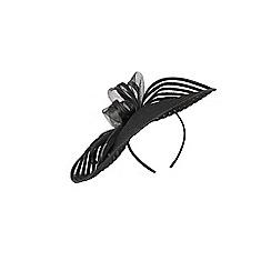 Coast - Black 'Fern' bow fascinator
