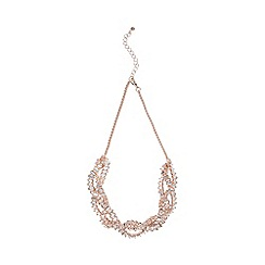 Coast - Rose gold 'Kiona' twist gem necklace