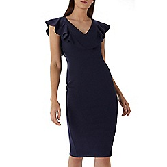 Coast - Navy 'Bonita' ruffle shift dress