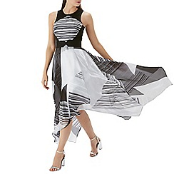 Coast - Mono stripe 'Mackee' organza dress