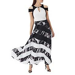Coast - Mono stripe 'Amery' pleated maxi dress