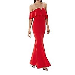 Coast - Red 'Sade' fishtail maxi dress