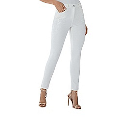 Coast - White 'Alina' lace detail jean