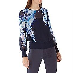 Coast - Floral print 'Spears' shirred hem top