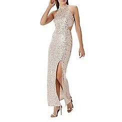 Coast - Gold sequin 'Ariel' cutout maxi dress