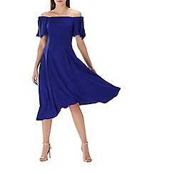 Coast - Cobalt 'Bonnie' bardot midi dress