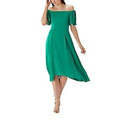 Coast - Green 'Bonnie' bardot midi dress