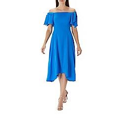 Coast - Blue 'Bonnie' bardot midi dress