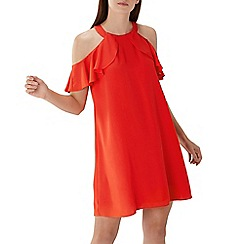 Coast - Red 'Claire' cold shoulder dress