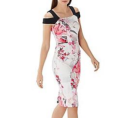 Coast - Floral print 'Lopez' cold shoulder shift dress