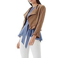 Coast - Tan 'Giulia' faux suede jacket