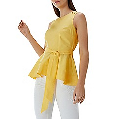Coast - Yellow 'Bella' peplum top