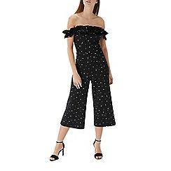 Coast - Black spotty 'Keslin' bardot jumpsuit