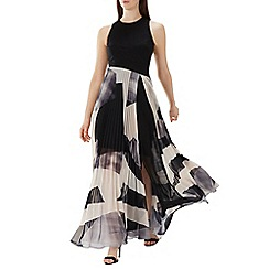 Coast - Monochrome 'Aria' geometric print maxi dress