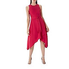 Coast - Raspberry red 'Sasha' soft belted dress
