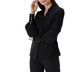 Coast - Black 'Lucille' lattice tie side blouse
